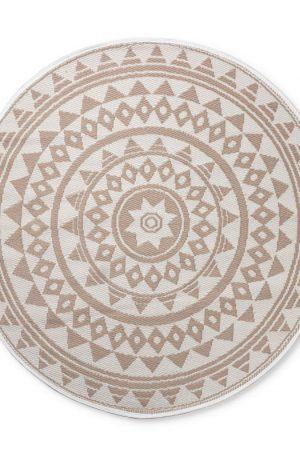 Buitenkleed mandala - beige/wit - 150 cm