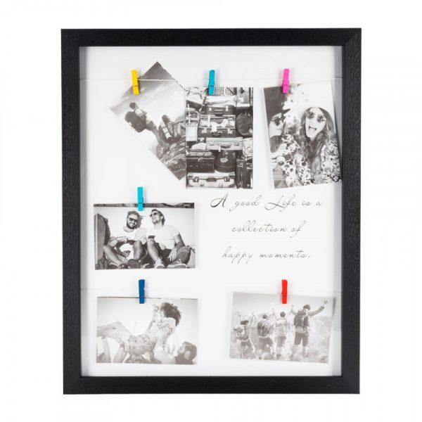 Collagelijst met 6 knijpers- zwart