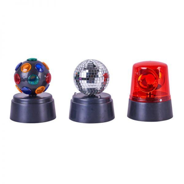 Discolampen - set van 3 lampen
