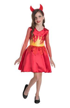 Halloween duivel jurk kinderkostuum - maat 110