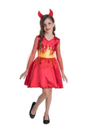 Halloween duivel jurk voor kinderen - maat 128