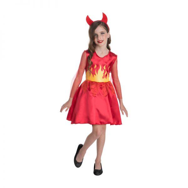 Halloween duivel jurk voor kinderen - maat 146
