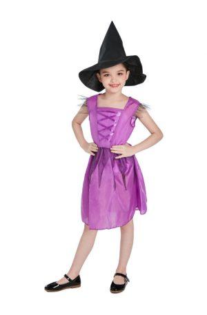 Halloween heks jurk voor kinderen - maat 146