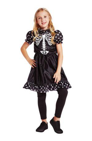 Halloween skelet jurk kinderkostuum - maat 110