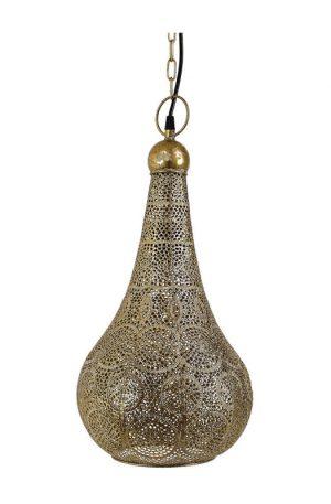 Hanglamp Kassim - goud/zilver - Ø24x45 cm