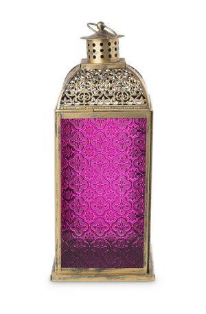 Lantaarn Marrakesh - fuchsia - 18x18x43 cm