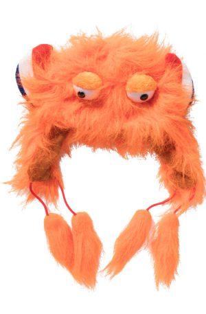 Muts met ogen en oren - oranje