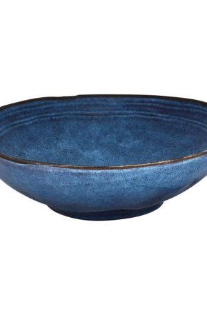 Schaal Toscane - donkerblauw - 30 cm