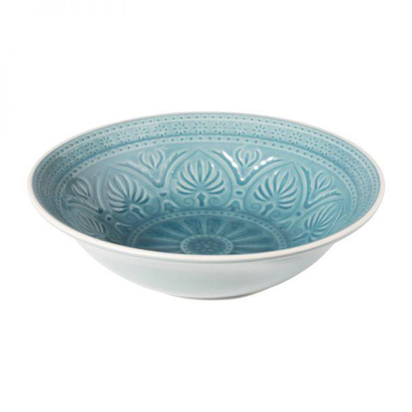 Schaal Yasmine - blauw - 26.5 cm