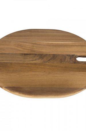 Snijplank acacia rond - 33x31 cm