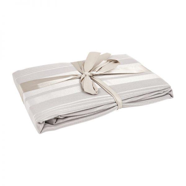 Tafelkleed jacquard - grijs - 240x140 cm