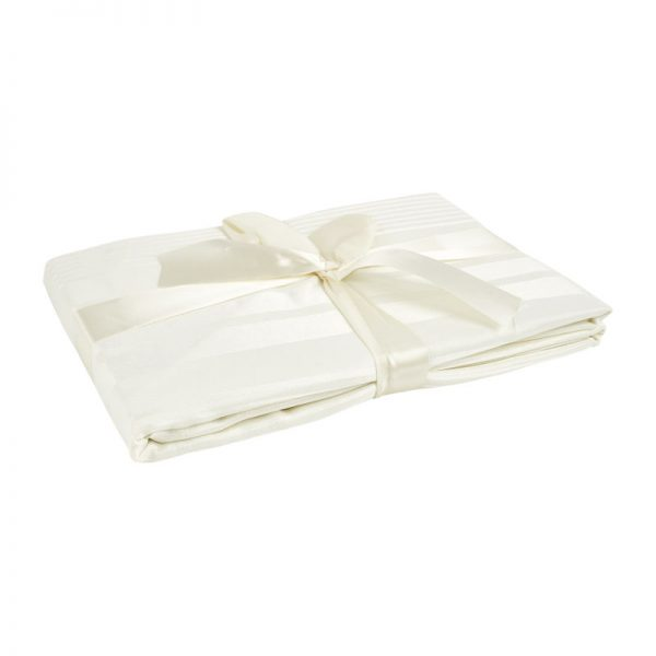 Tafelkleed jacquard - wit - 240x140 cm