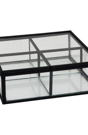 Theedoos - 15x15x5.5 - zwart