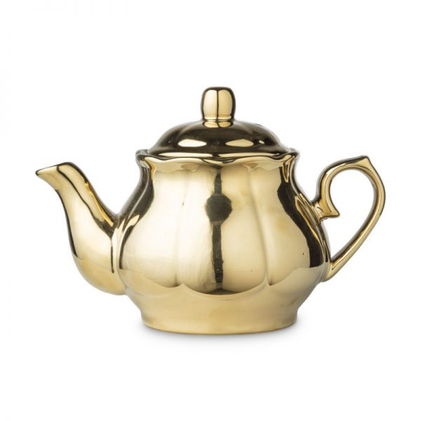 Theepot shiny gold - goud - 800 ml