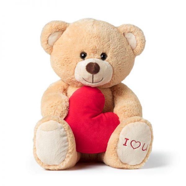 Valentijn beer - bruin - 17x24x32 cm