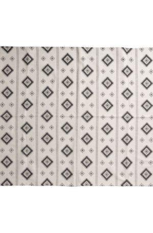 Vloerkleed azteken - zwart - 175x120 cm